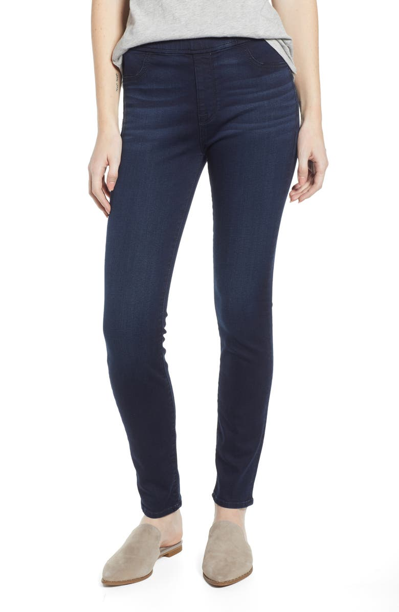 JEN7 BY 7 FOR ALL MANKIND Comfort Skinny Denim Leggings, Main, color, CLASSIC BLUE/ BLACK