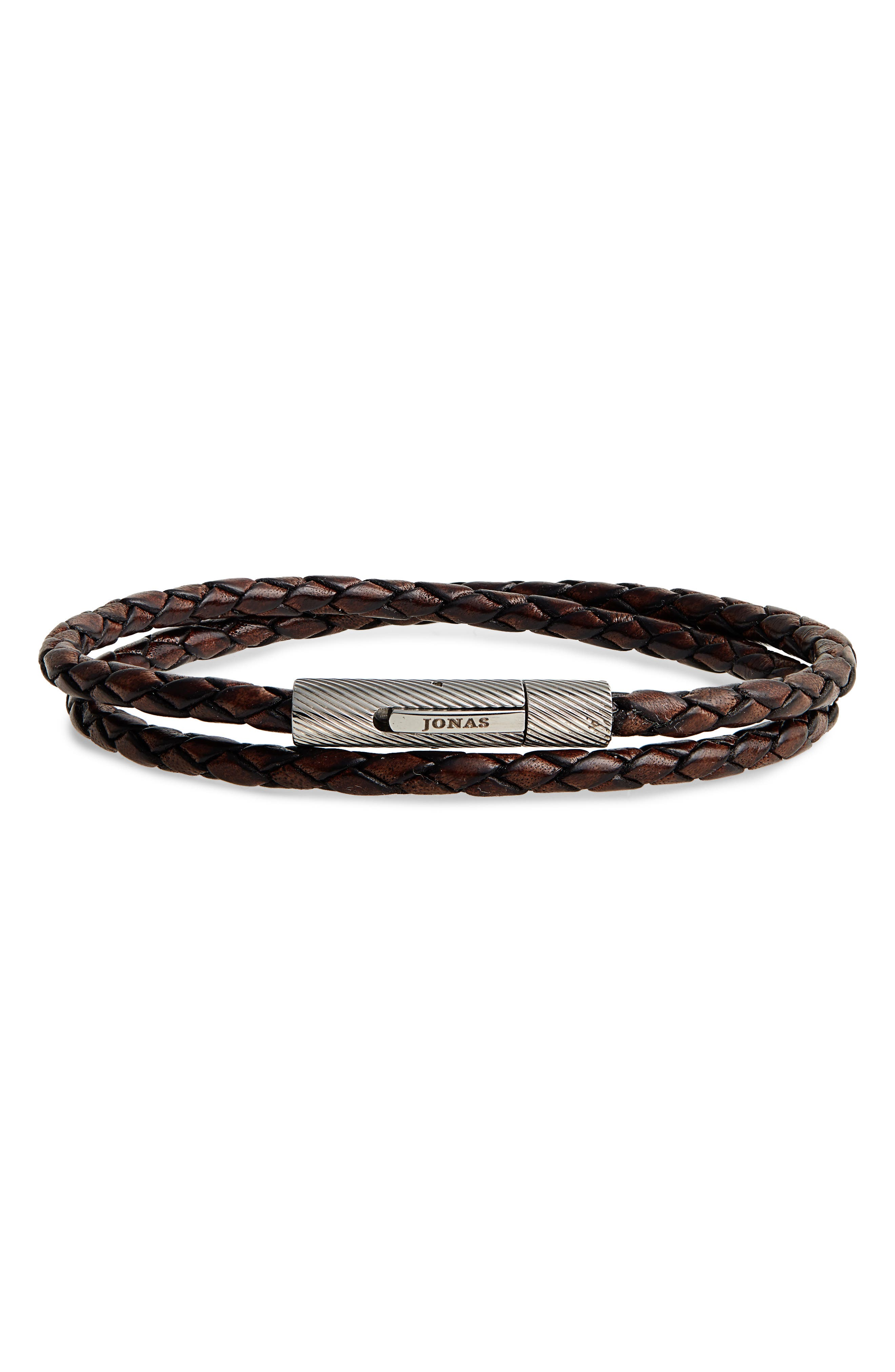 Braided Leather Wrap Bracelet