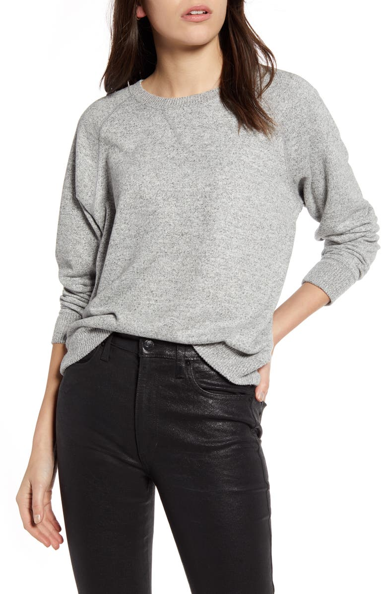 RAILS Callahan Crewneck Sweatshirt, Main, color, MELANGE GREY