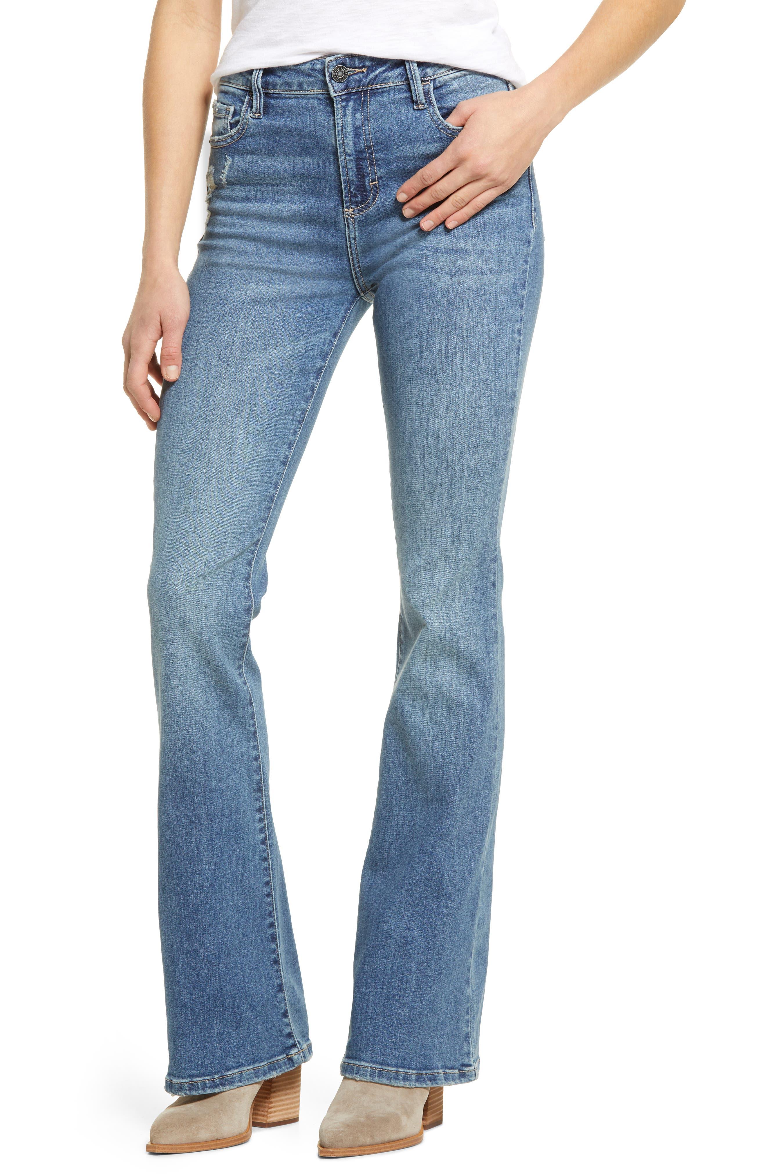 Classic High Waist Flare Leg Jeans