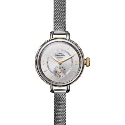 Shinola Birdy Mesh Bracelet Watch,