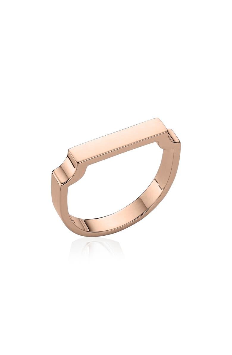 MONICA VINADER Signature Ring, Main, color, ROSE GOLD