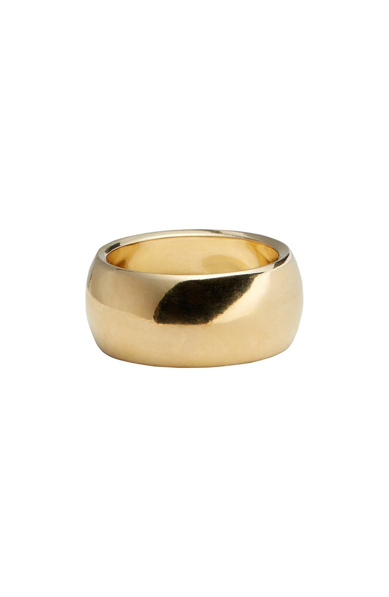 LAURA LOMBARDI Luna Ring, Main, color, BRASS