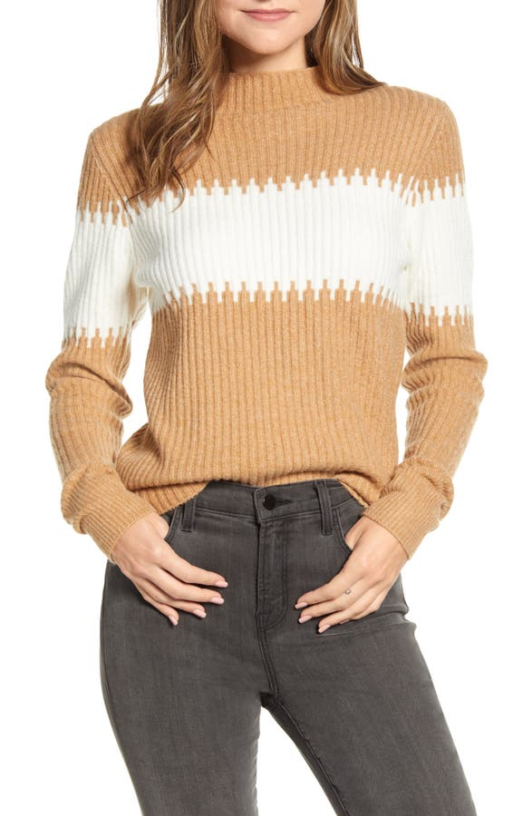 French Connection Sweaters SOPHIA STRIPE RIB SWEATER