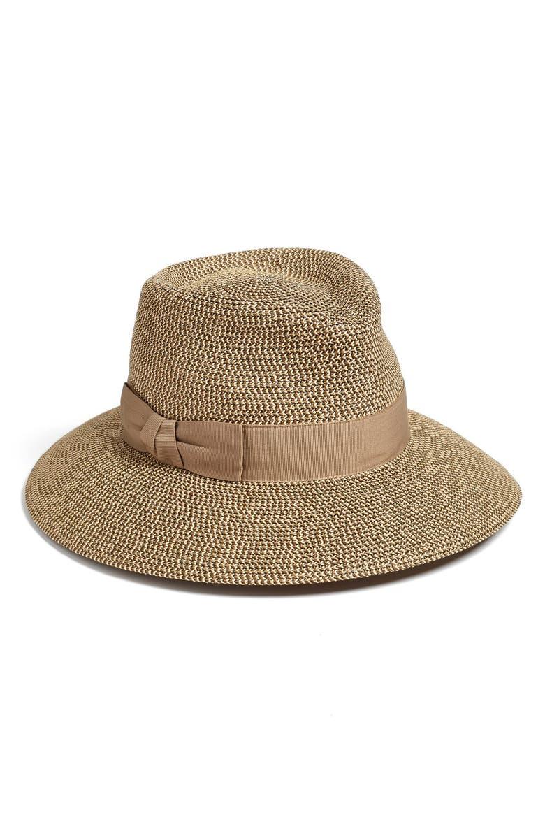 ERIC JAVITS 'Phoenix' Packable Fedora Sun Hat, Main, color, 251