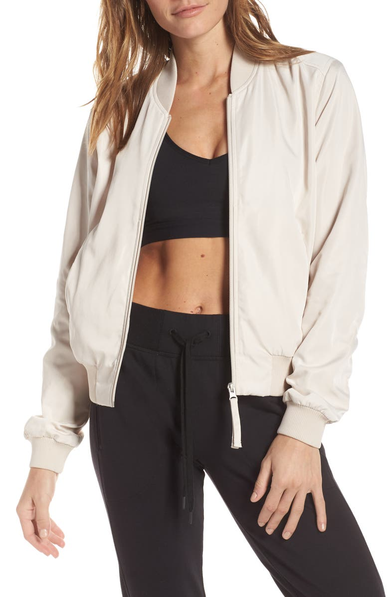 ZELLA Ella Satin Bomber Jacket, Main, color, 250