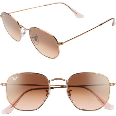 Ray-Ban 51Mm Aviator Sunglasses - Copper/ Copper Gradient