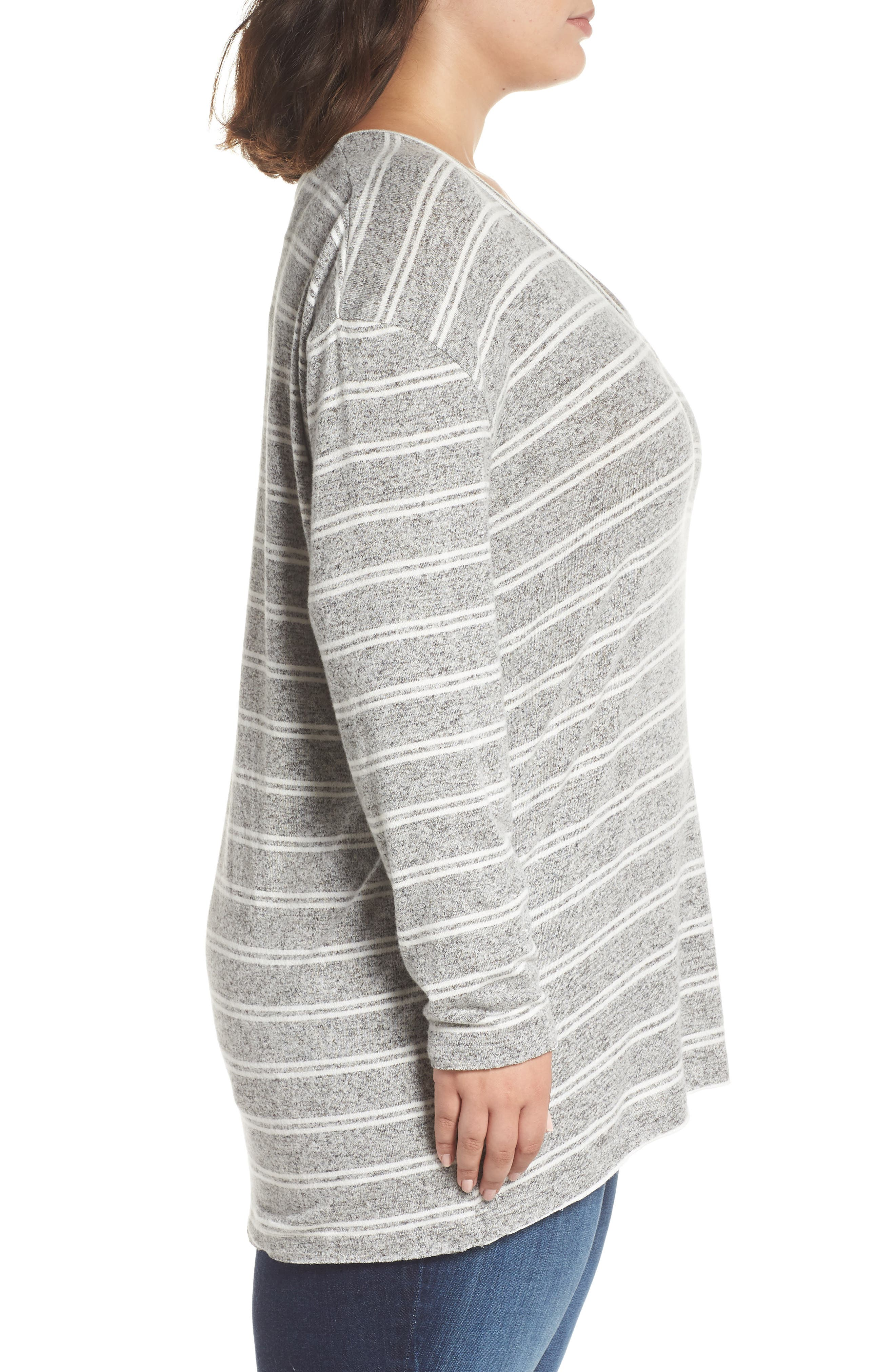 ,                             Cozy V-Neck Sweater,                             Alternate thumbnail 9, color,                             050