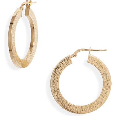 Argento Vivo Grecian Medium Hoop Earrings
