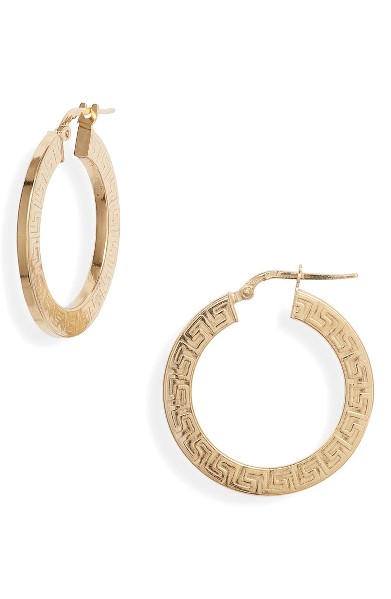 ARGENTO VIVO Grecian Medium Hoop Earrings, Main, color, GOLD