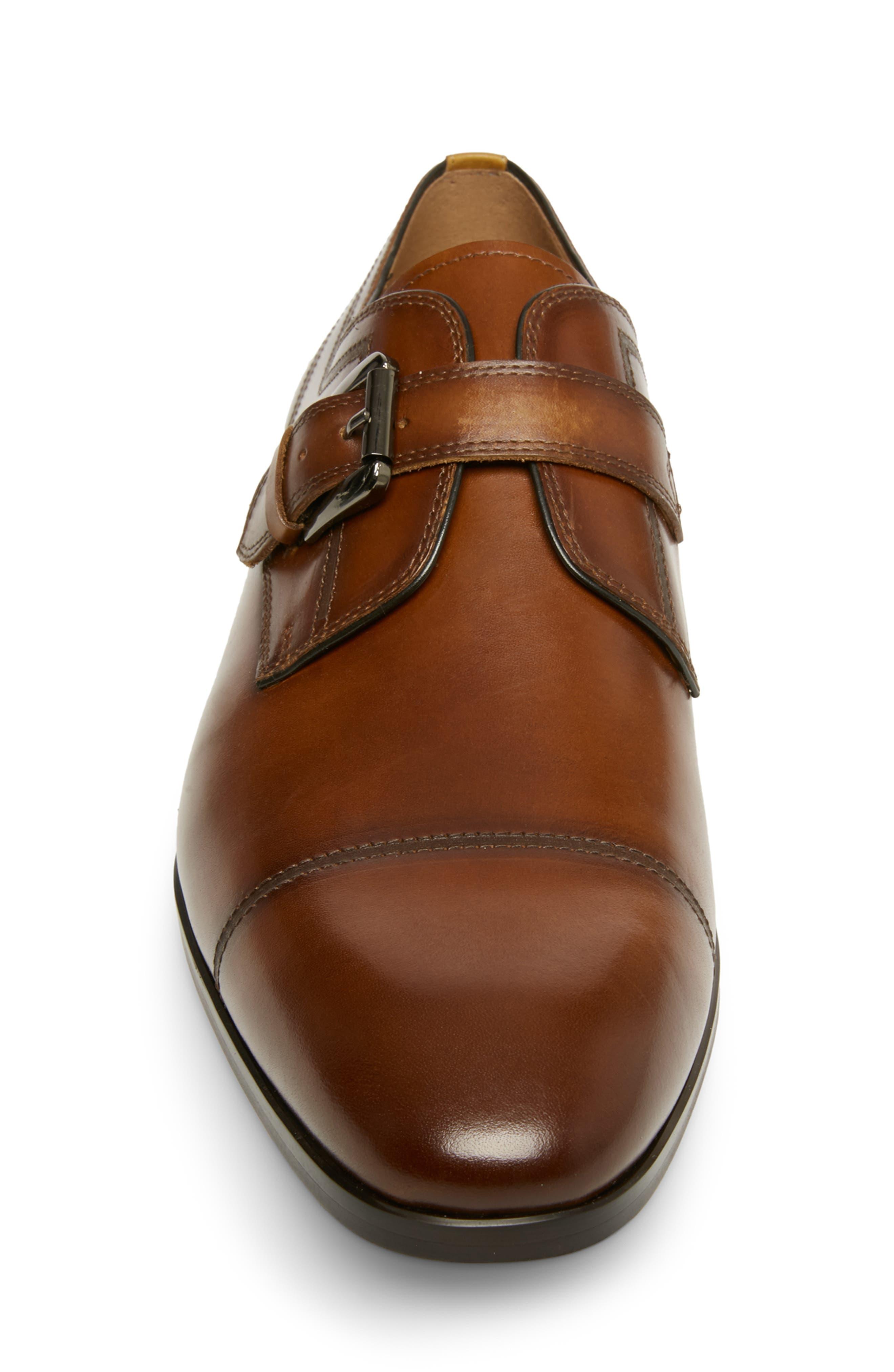 ,                             Covet Monk Strap Shoe,                             Alternate thumbnail 4, color,                             COGNAC LEATHER