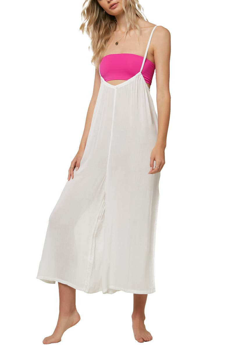 O'NEILL Pasito Cover-Up Jumpsuit, Main, color, WINTER WHITE