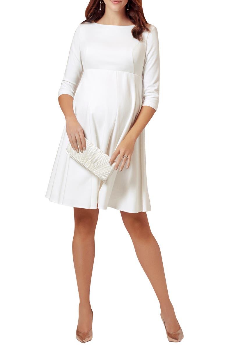 TIFFANY ROSE Sienna Maternity Dress, Main, color, CREAM