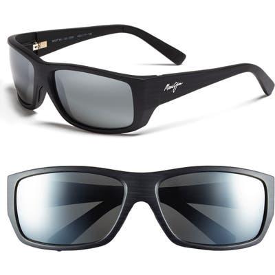 Maui Jim Wassup Polarizedplus2 61mm Polarized Sunglasses - Matte Black Wood Grain/ Grey