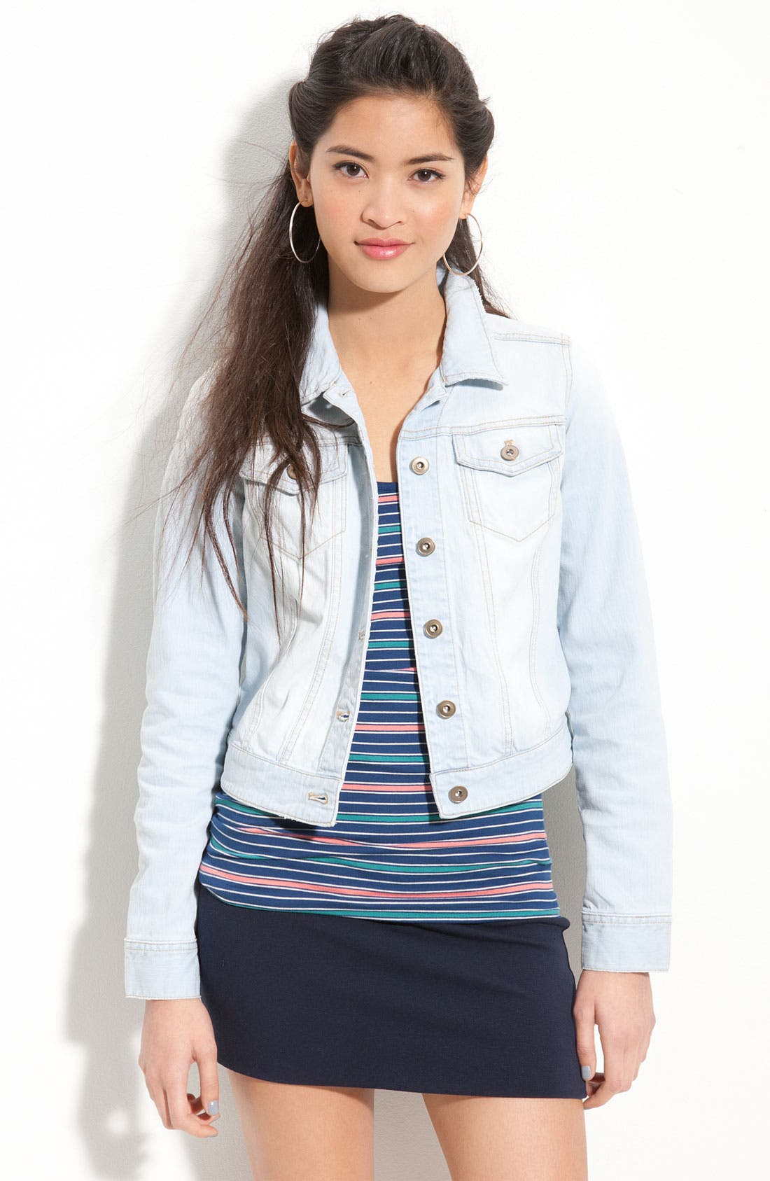 ,                             Basic Denim Jacket,                             Main thumbnail 9, color,                             461