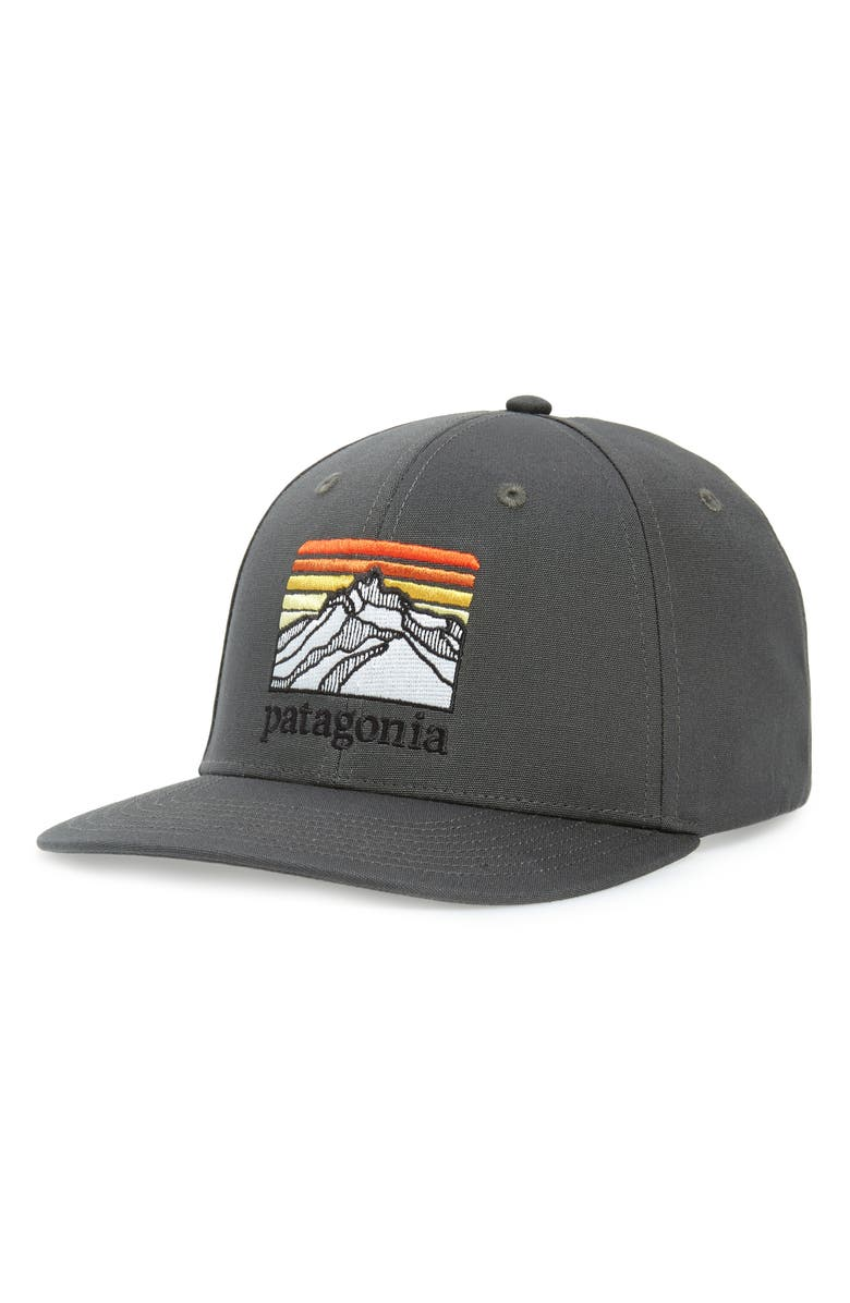 PATAGONIA Line Logo Ridge Roger That Baseball Cap, Main, color, FORGE GREY