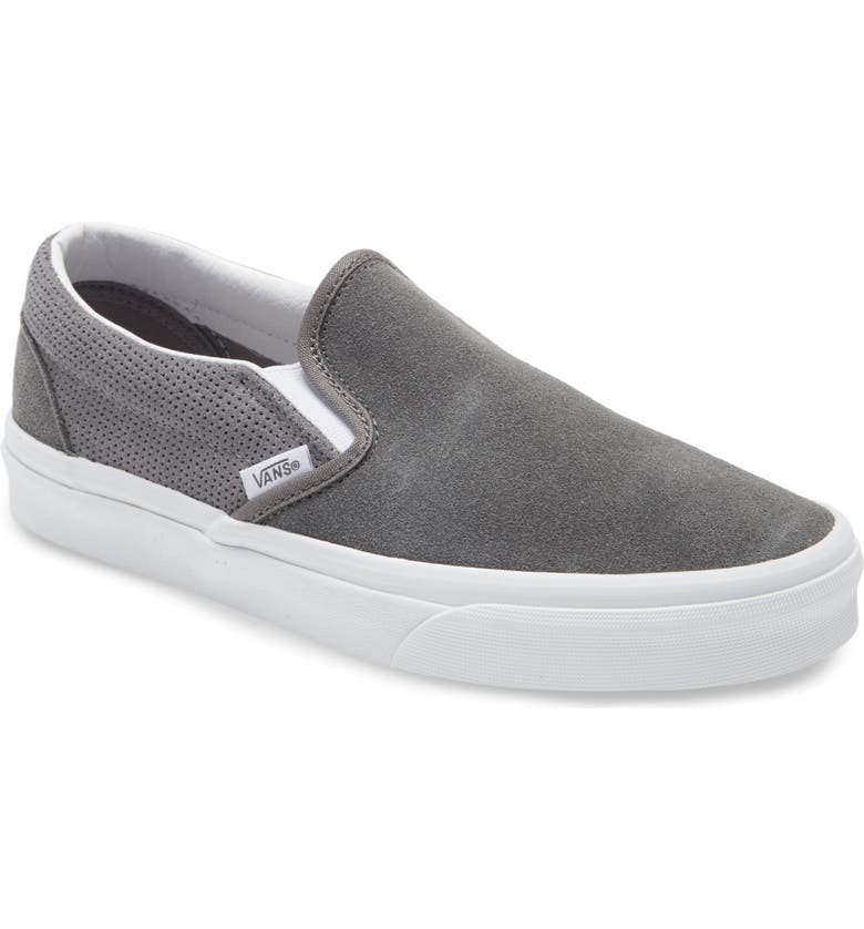VANS 'Classic - Checker' Slip-On, Main, color, PEWTER/ FROST GRAY