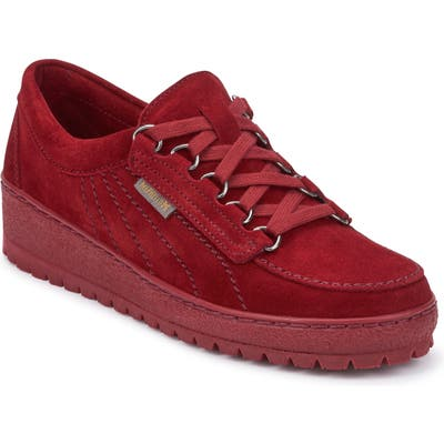 Mephisto Lady Low Top Sneaker, Red