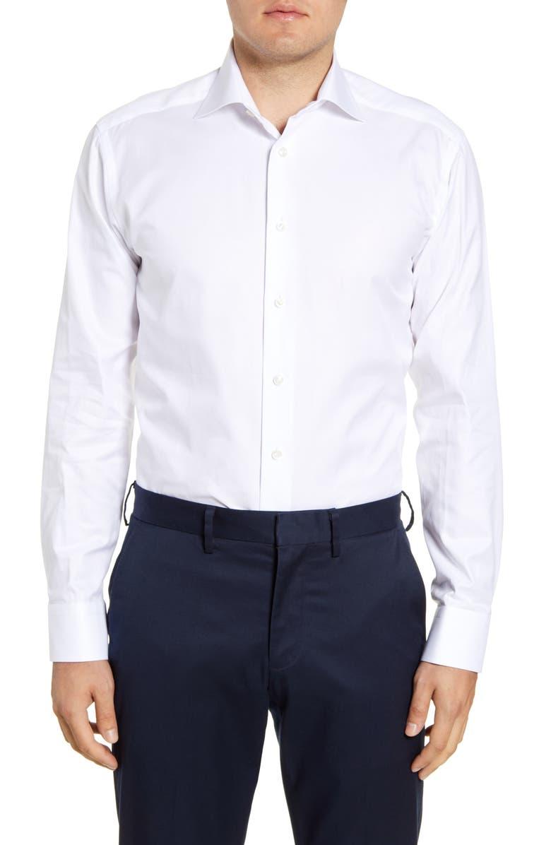 ETON Slim Fit Dress Shirt, Main, color, WHITE