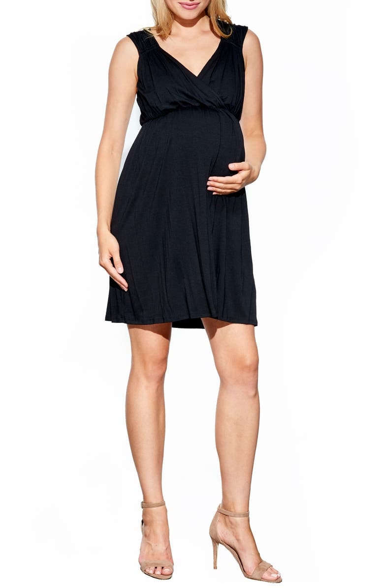 MATERNAL AMERICA 'Vanessa' Maternity Dress, Main, color, 001