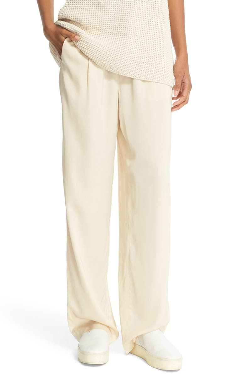 VINCE Pleated Pull-On Trousers, Main, color, 138