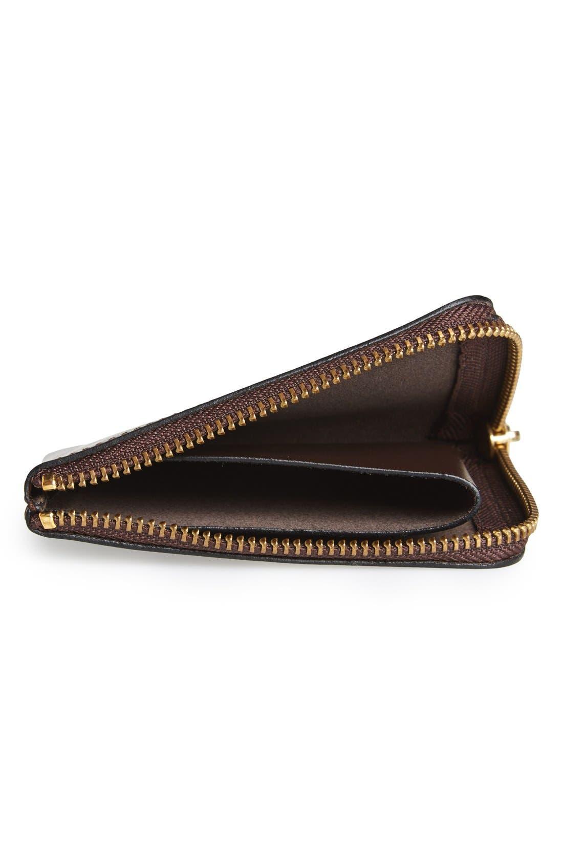 ,                             Half-Zip Leather Wallet,                             Alternate thumbnail 8, color,                             200