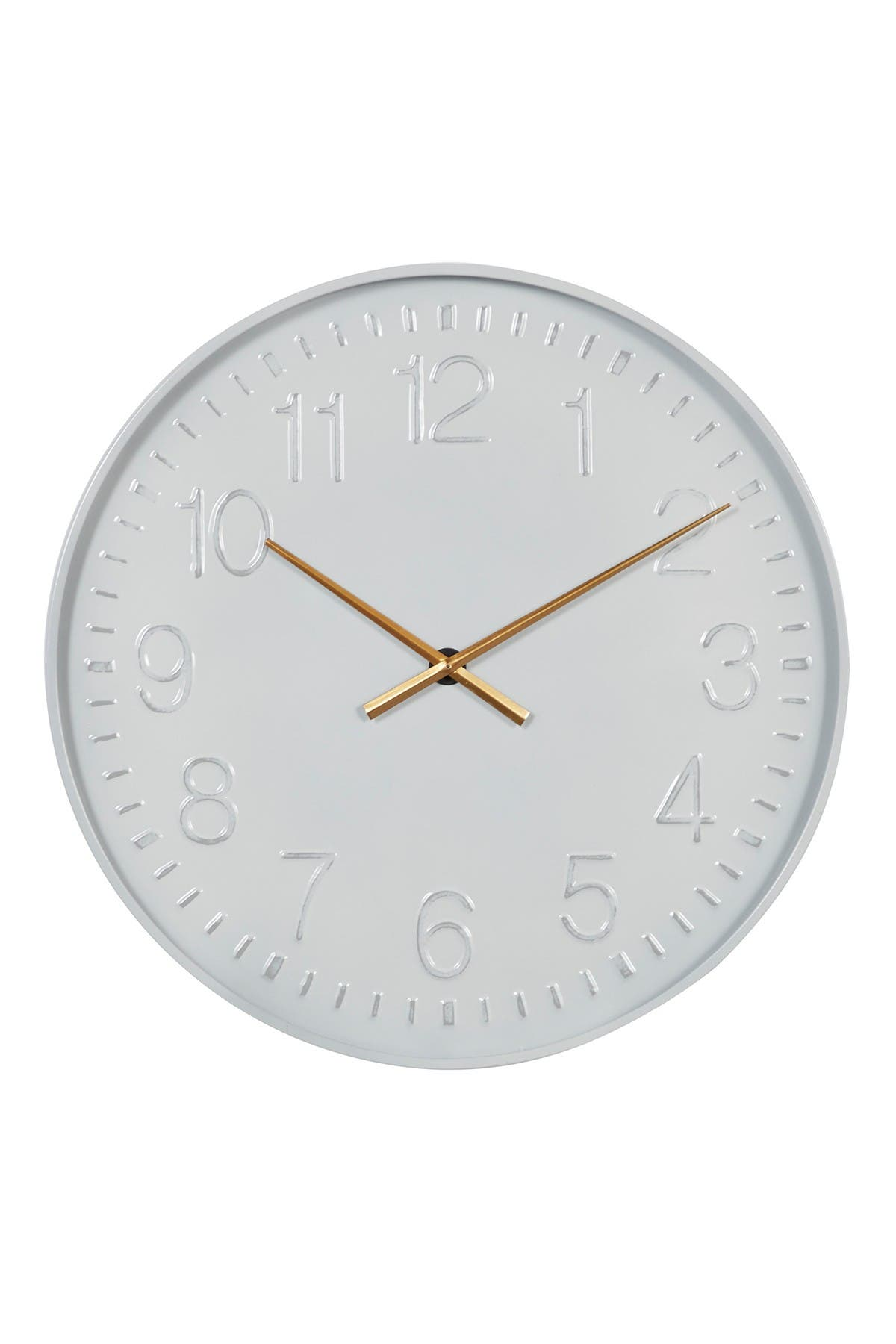 Willow Row Metal Minimalist Wall Clock w/ Numbers, AA Battery-Operated at Nordstrom Rack
