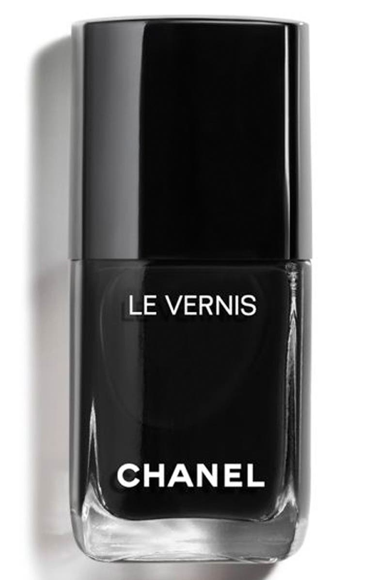 CHANEL LE VERNIS <br />Longwear Nail Colour, Main, color, 713 PURE BLACK