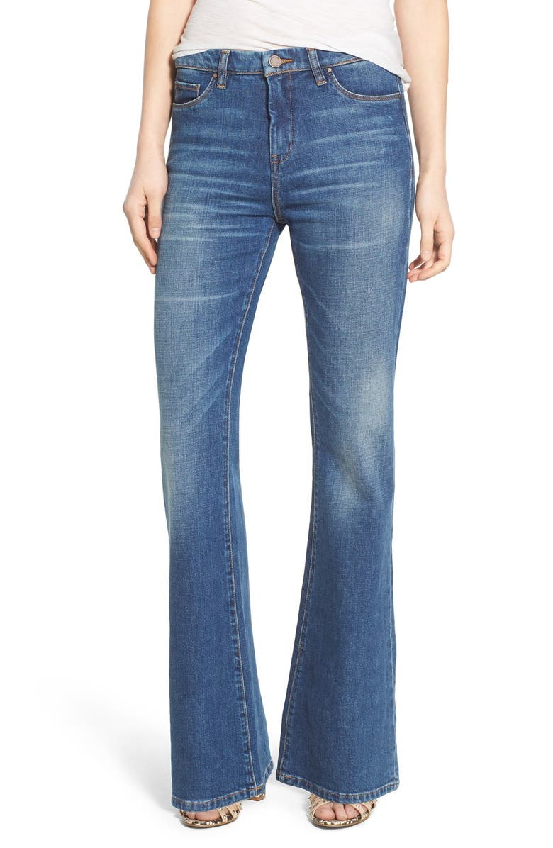 BLANKNYC High Rise Flare Jeans, Main, color, 400