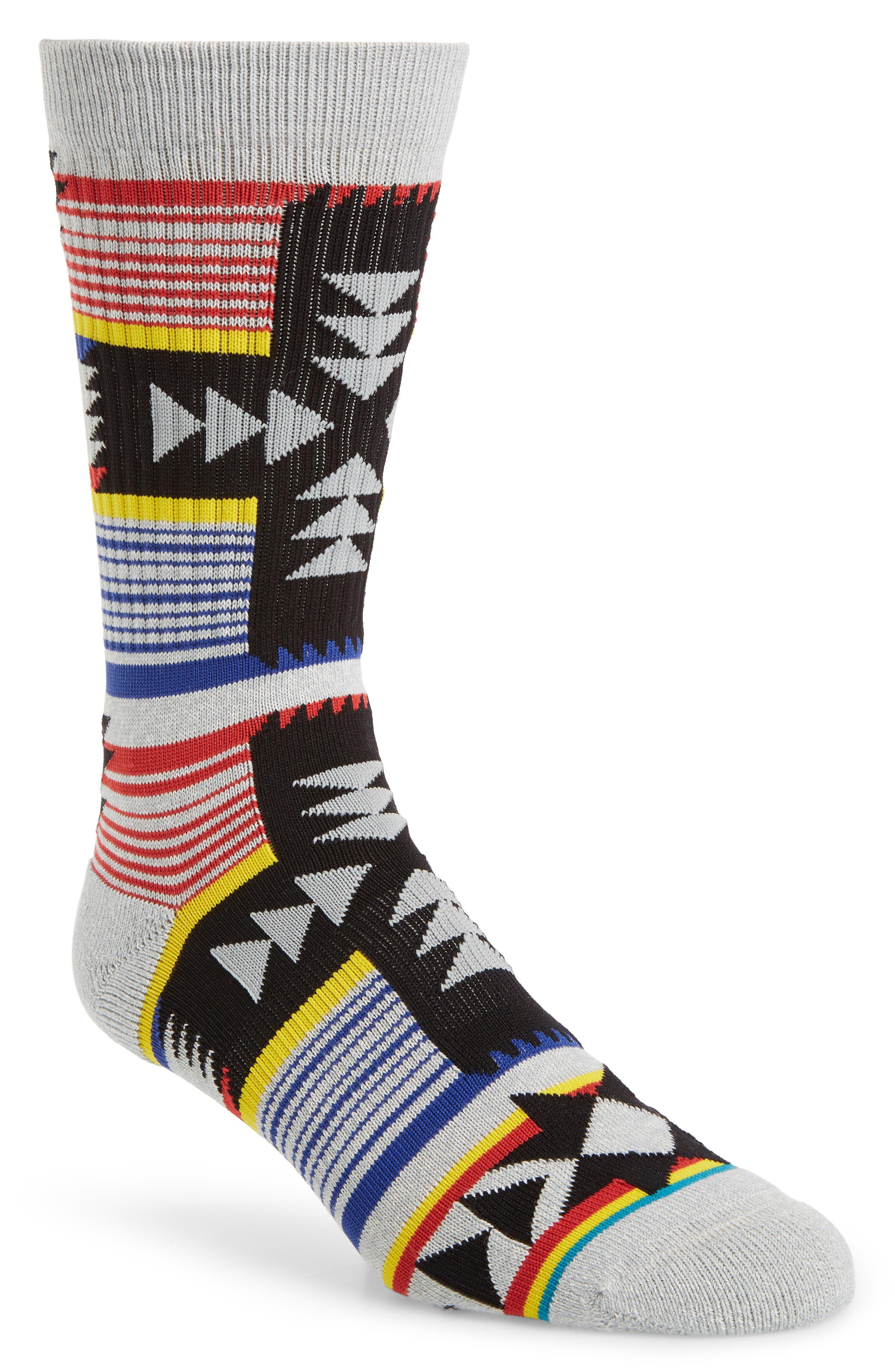 Canyonlands Crew Socks, Main, color, HEATHER GREY