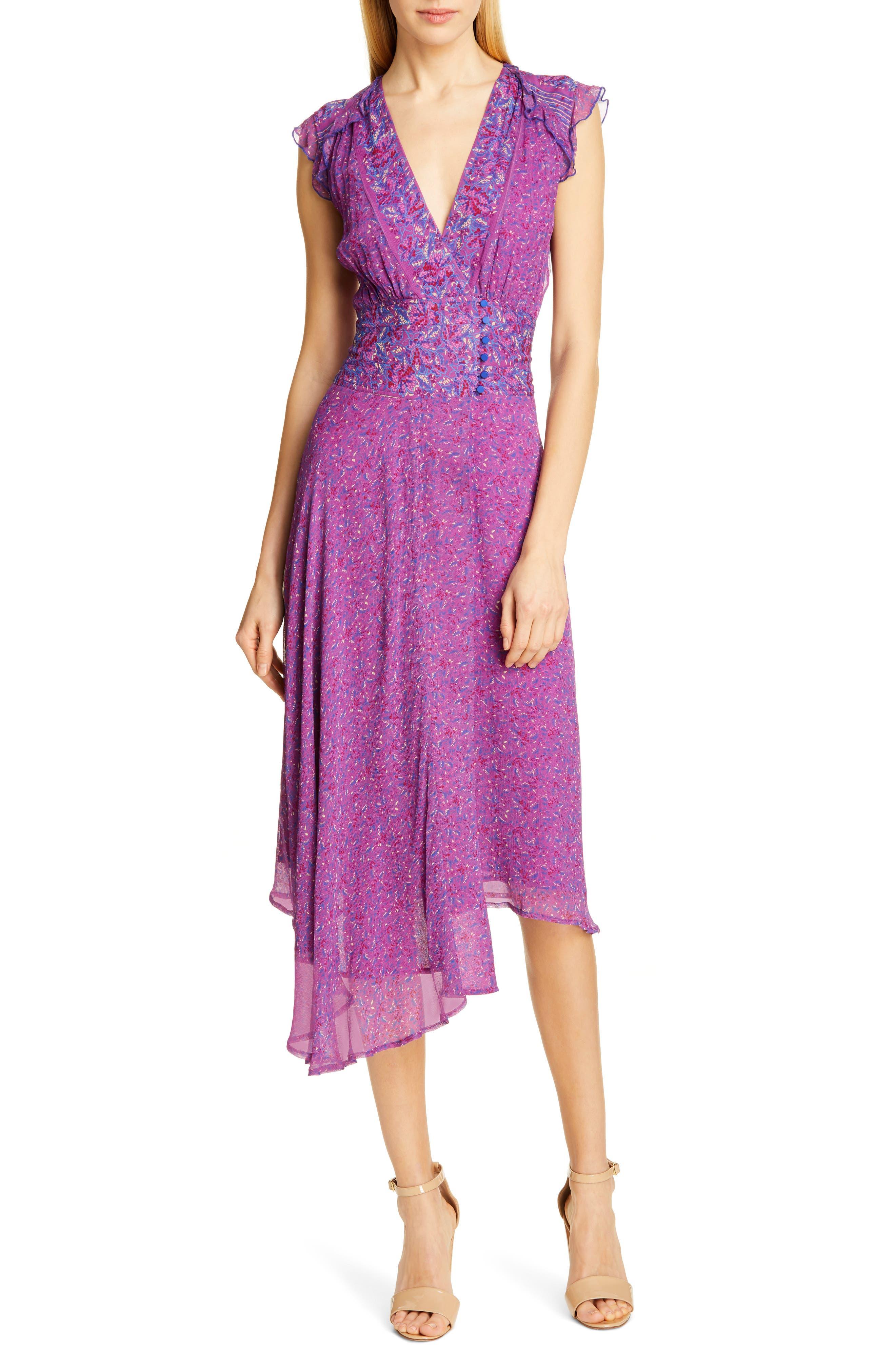 Ba & sh Meryl Floral Dress, Pink