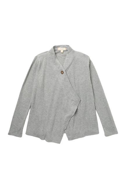 Image of WALKING ON SUNSHINE One Button Waffle Knit Cardigan Sweater