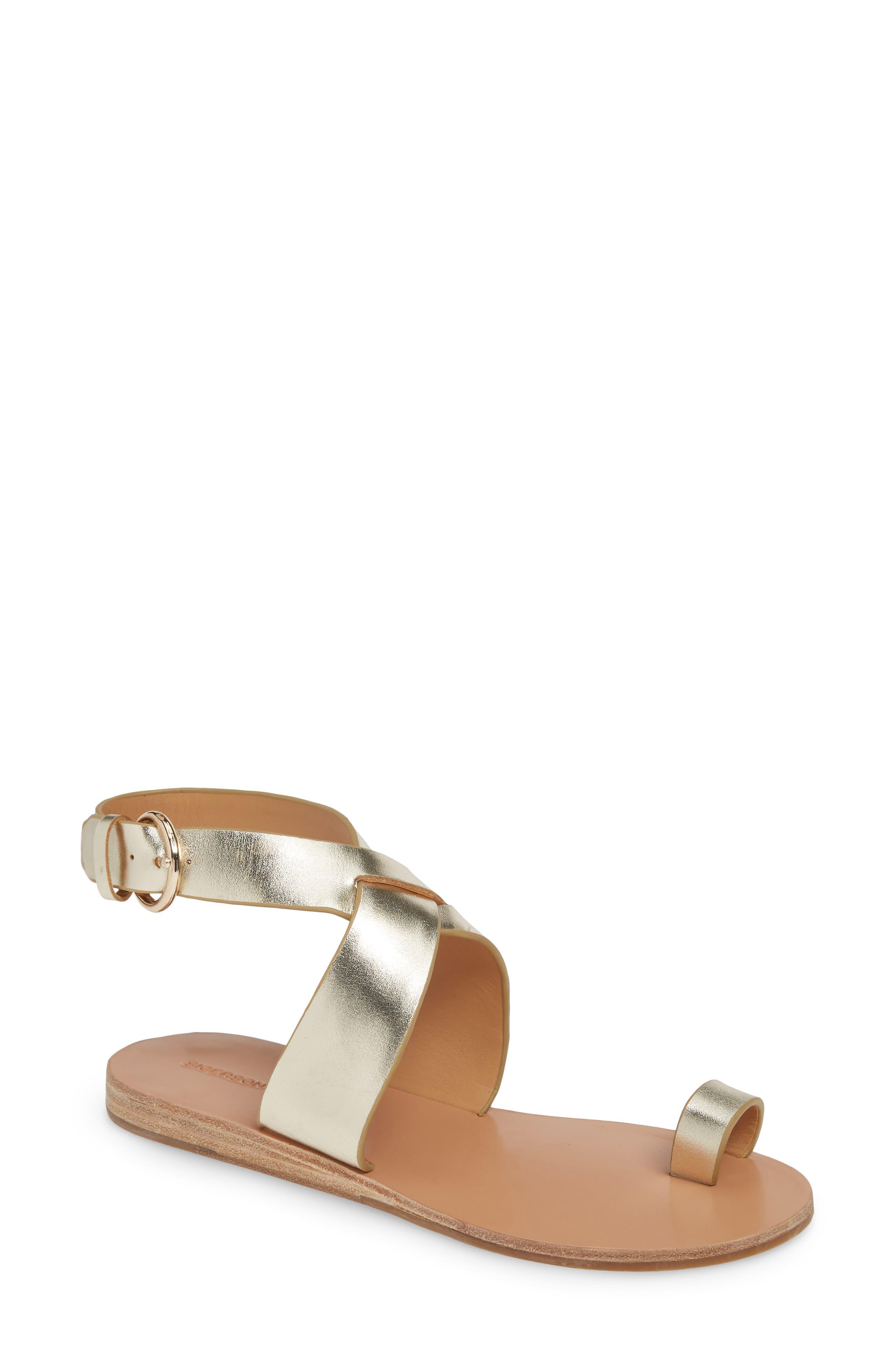 Sigerson Morrison Kyra Toe Loop Sandal Metallic