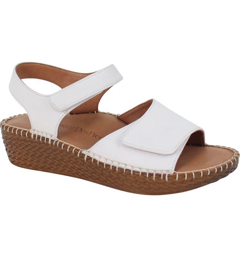 L'AMOUR DES PIEDS Yahya Platform Sandal, Main, color, WHITE LAMBA LEATHER