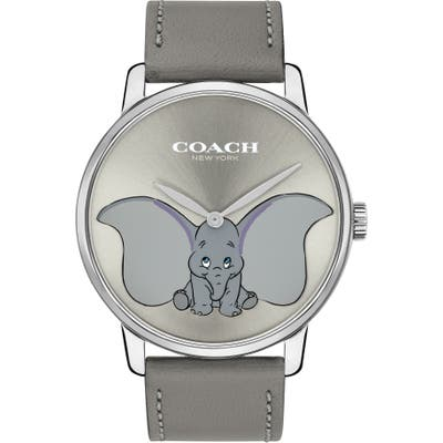 Coach X Disney Dumbo Grand Leather Strap Watch, 40Mm