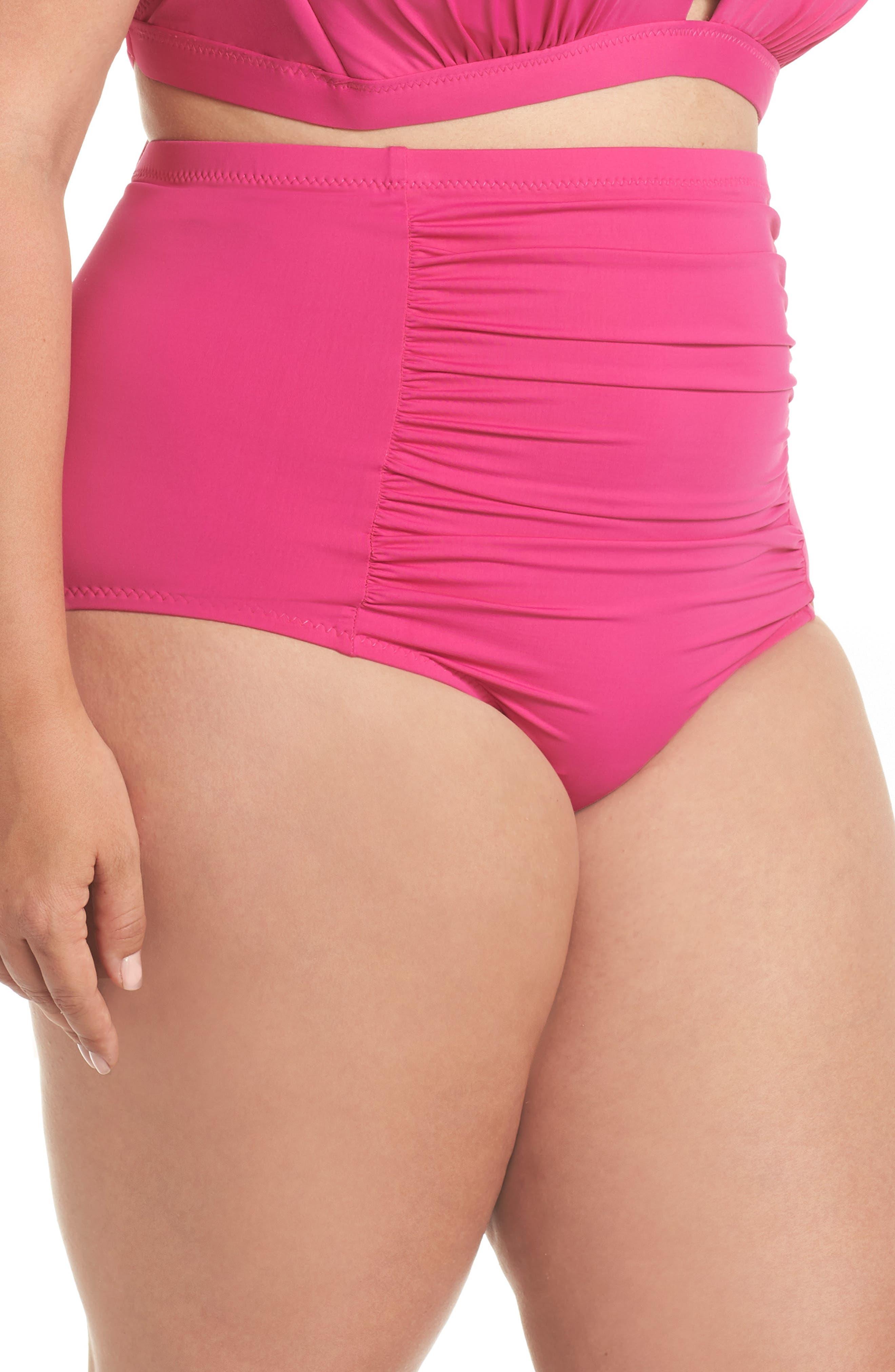 ,                             Color Code High Waist Bikini Bottoms,                             Alternate thumbnail 11, color,                             656