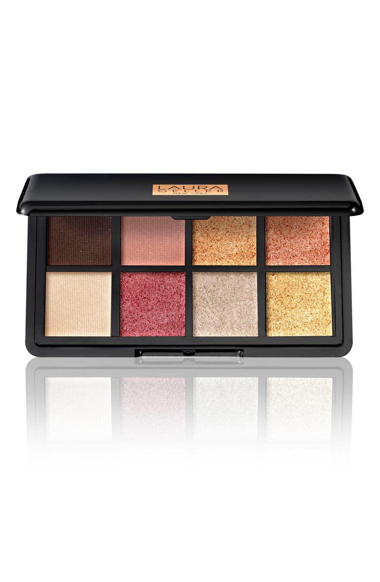 LAURA GELLER BEAUTY Luxe Finishes Eyeshadow Palette, Main, color, THE WARMS