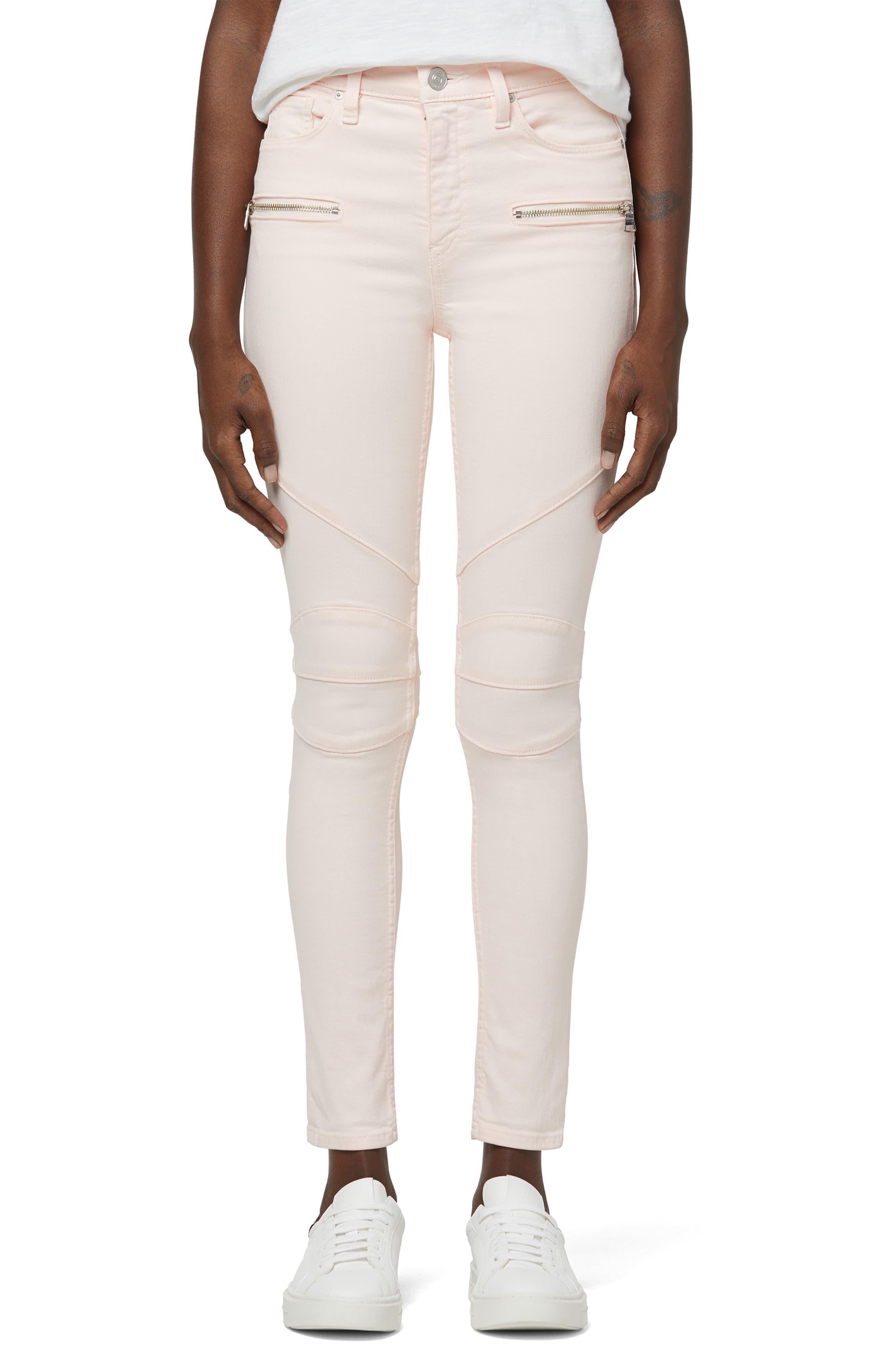 Barbara Moto High Waist Stretch Ankle Skinny Jeans