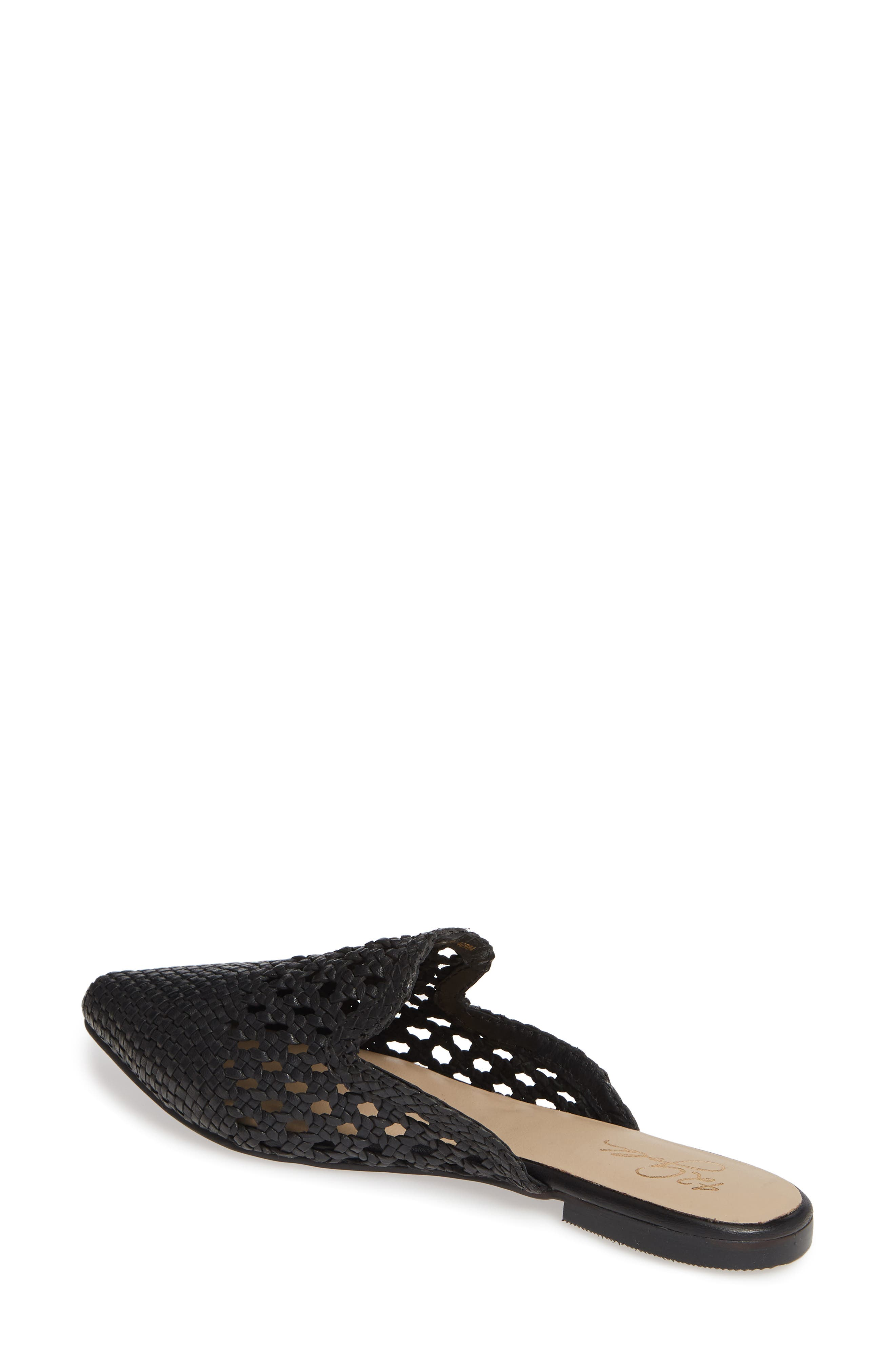 ,                             Corra Woven Loafer Mule,                             Alternate thumbnail 2, color,                             BLACK LEATHER