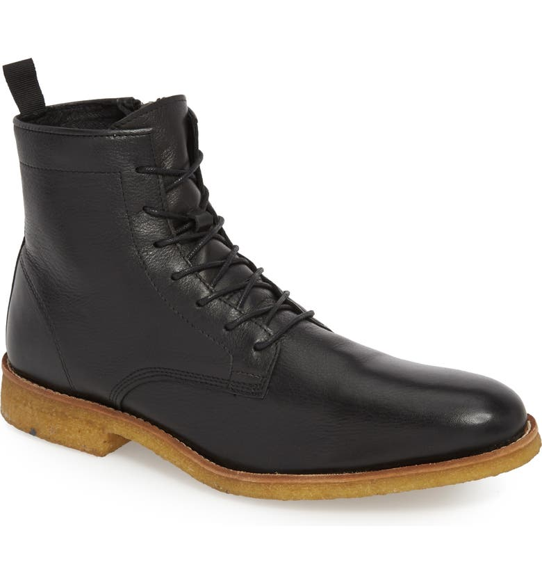 SUPPLY LAB Jonah Plain Toe Boot, Main, color, BLACK LEATHER