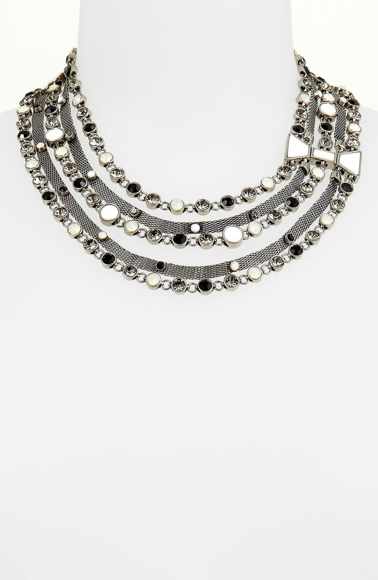 MARC BY MARC JACOBS 'Polka Dot' Bow Multistrand Statement Necklace, Main, color, 040