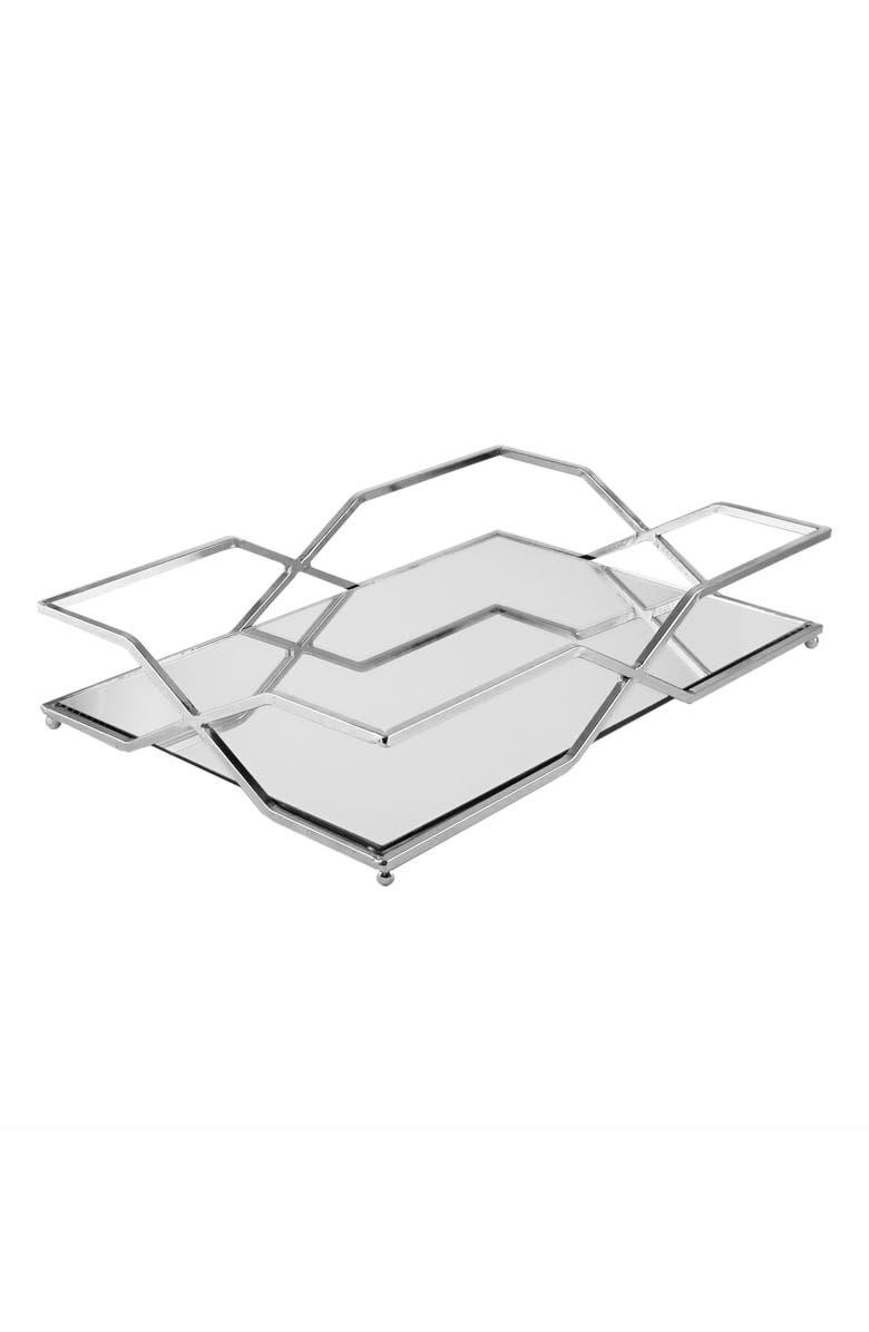 AMERICAN ATELIER Metal Mirror Rectangular Tray, Main, color, 040