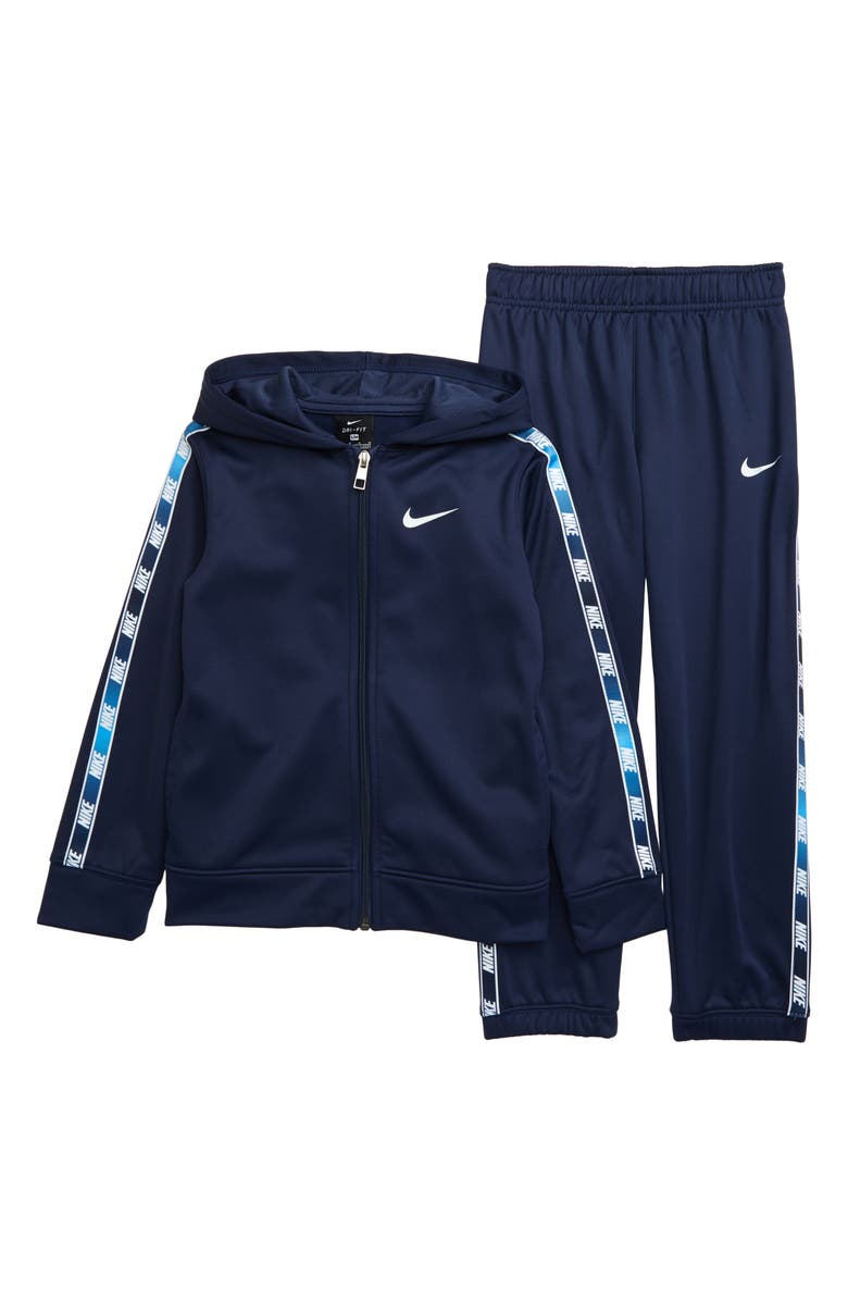 NIKE Therma Gradient Taping Dri-FIT Fleece Zip Hoodie & Pants Set, Main, color, 416