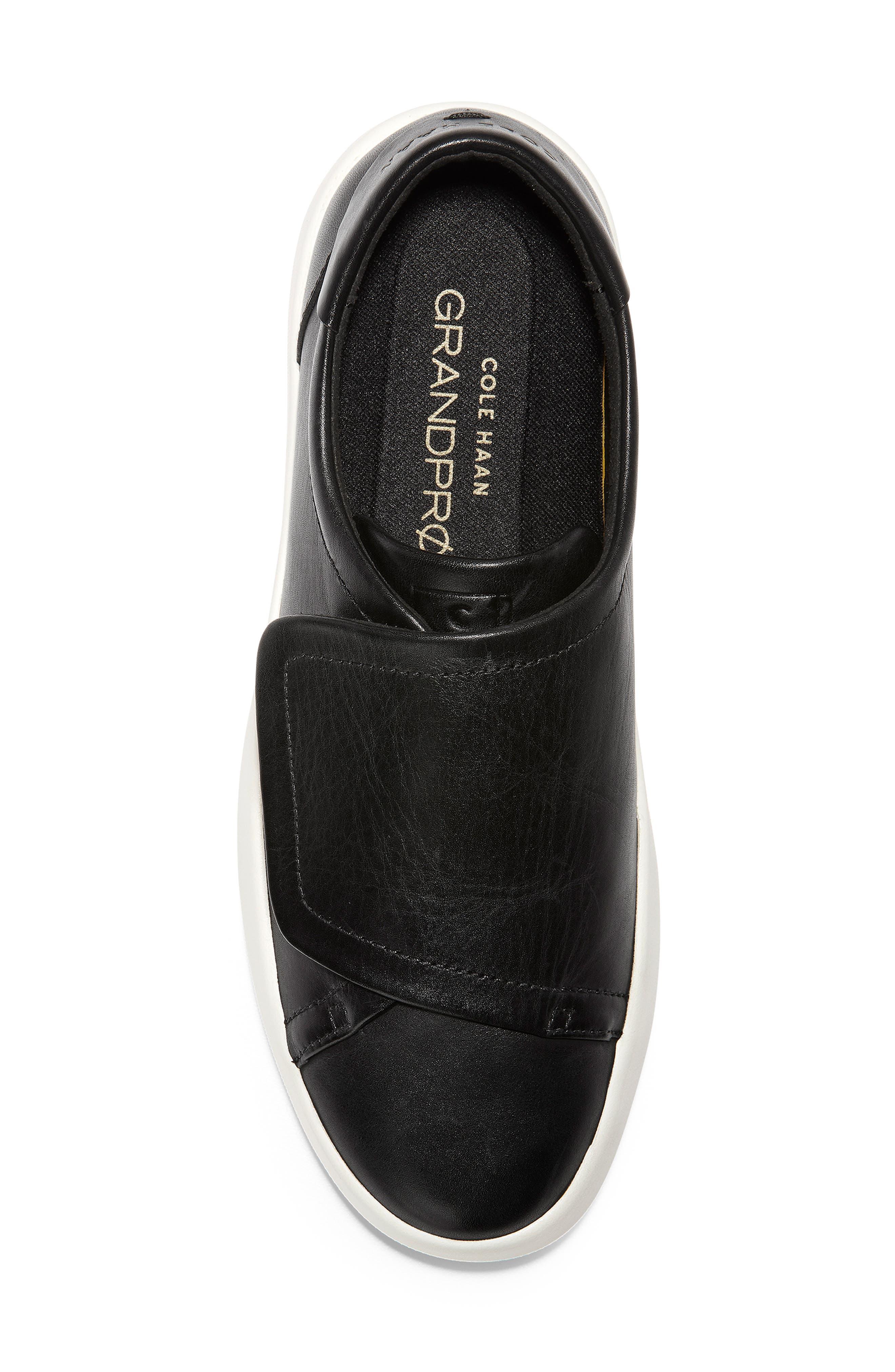 ,                             GrandPro Flatform Sneaker,                             Alternate thumbnail 5, color,                             BLACK LEATHER