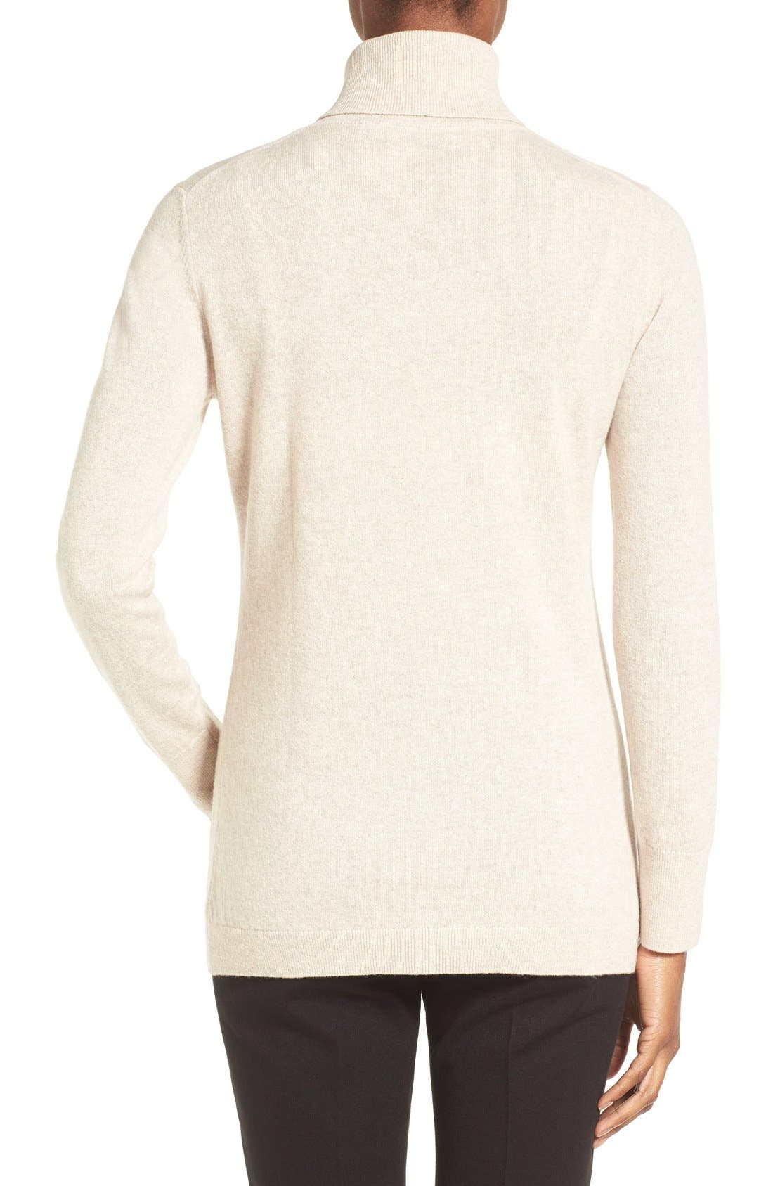 ,                             Long Cashmere Turtleneck Sweater,                             Alternate thumbnail 19, color,                             260