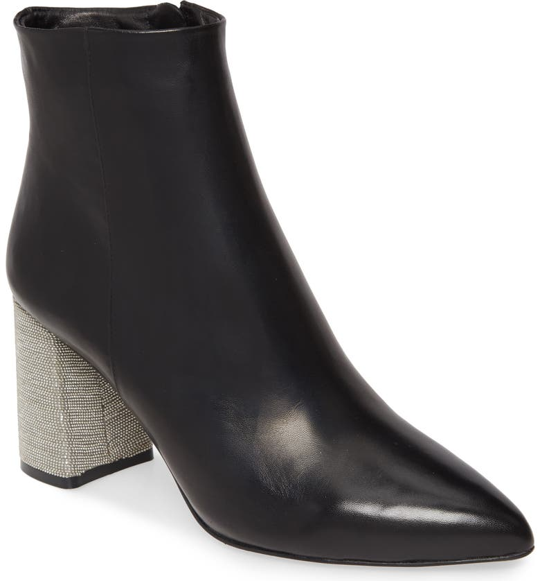 ALICE + OLIVIA Delanie Bootie, Main, color, BLACK/ SILVER