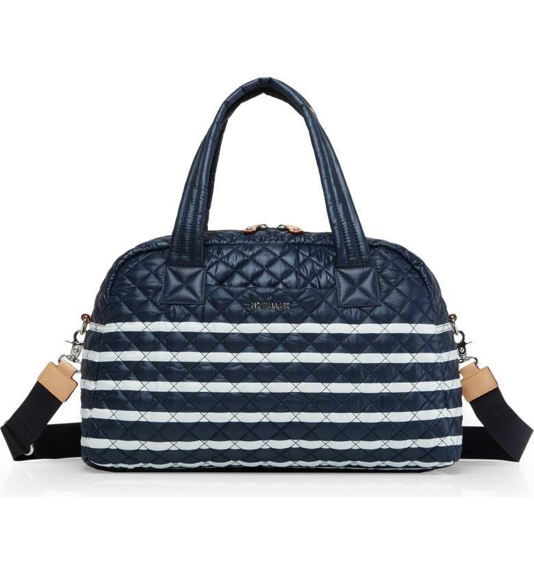 MZ WALLACE Jimmy Travel Bag, Main, color, CHARTER STRIPE