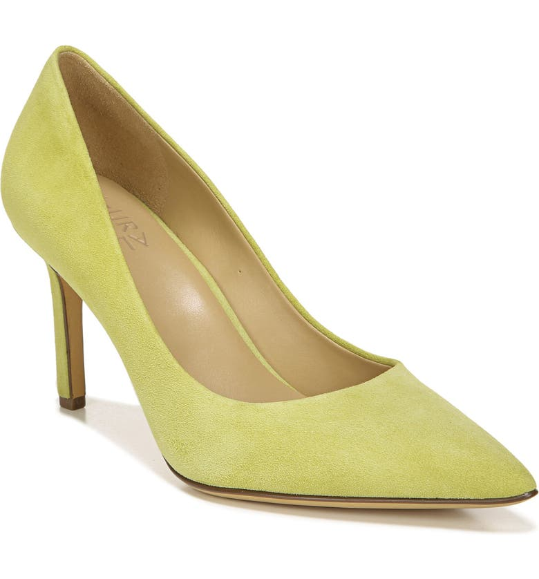 NATURALIZER Anna Pointed Toe Pump, Main, color, LIME GRANITA SUEDE
