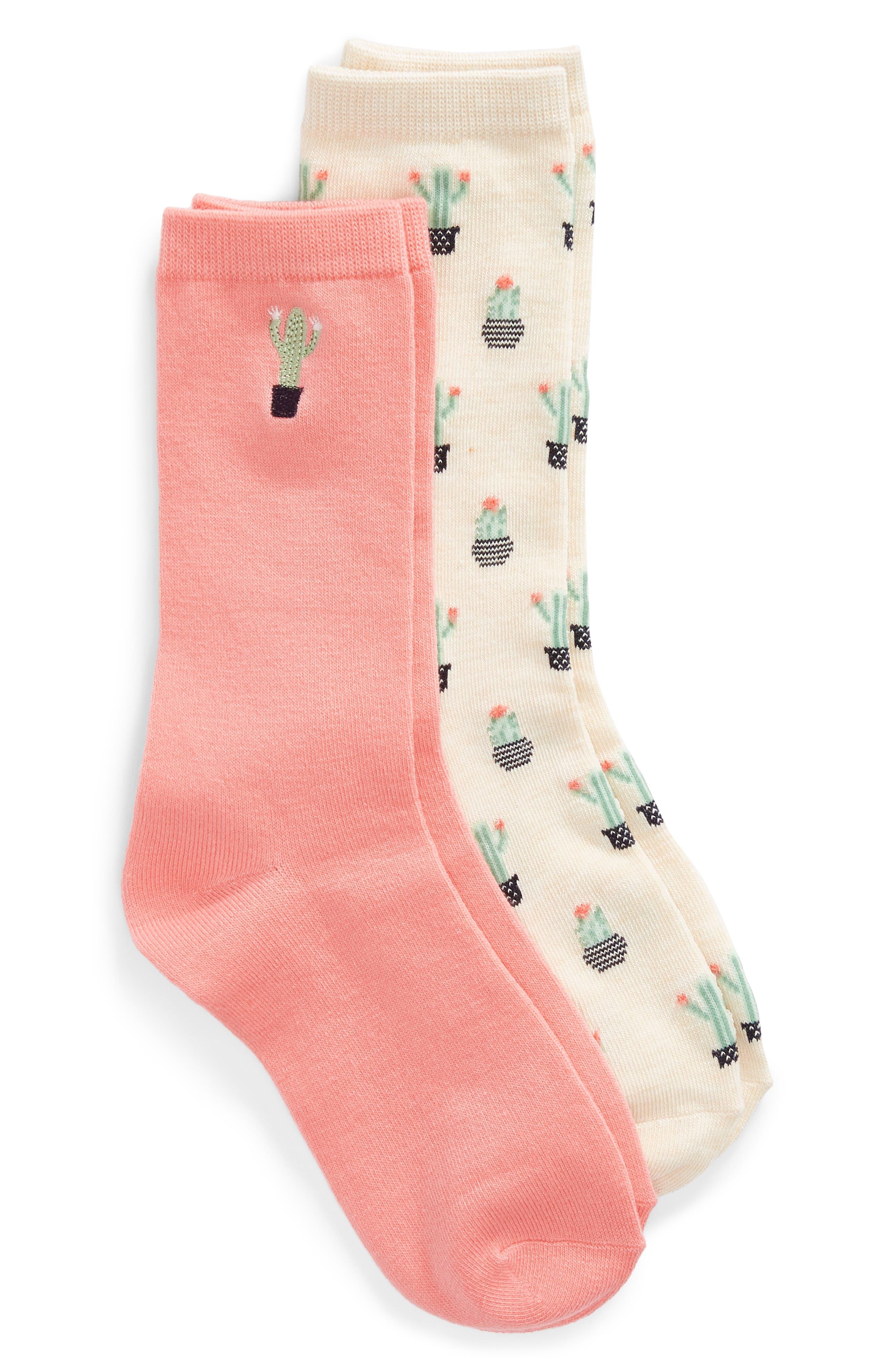 2-Pack Pattern Crew Socks, Main, color, 280