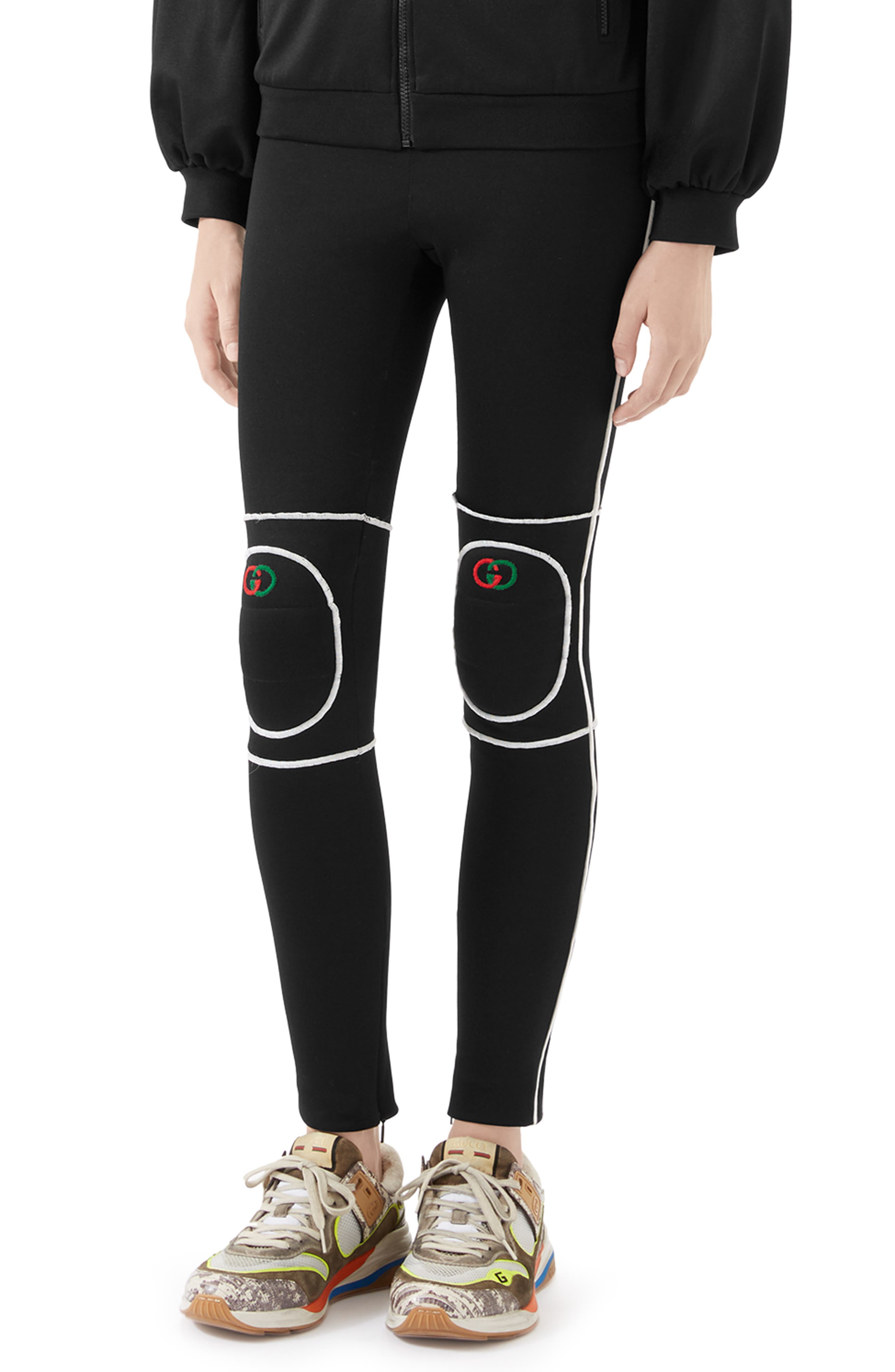 Gucci Pants Tech Jersey Leggings with Knee Pads